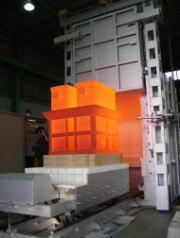 台車炉の台車断熱シーリング施工