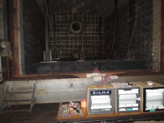 熱処理炉有効加熱帯温度分布測定1