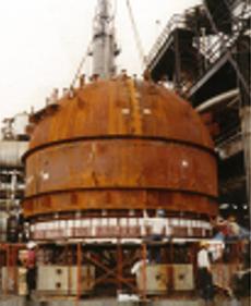 4バンクヒーターによる輻射対流加熱法(仮設炉)