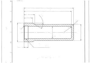 湯面センサーカバー図(材質 アルミナ)